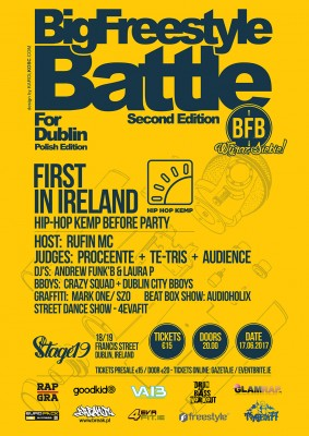 BIG Freestyle Battle for Dublin 2 / Hip - Hop Kemp Before Party
