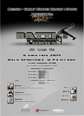 Battle Lords 2014 2 vs 2 B-boys/B-girl Battle plus power move contest