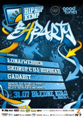 Hip Hop Kemp Before Party – Łona/Webber, Skorup, Gadabit w Krakowie!