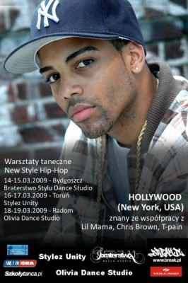 Warsztaty taneczne New Style Hip-Hop – Hollywood (New York, USA) w BSDS, SU i ODS!