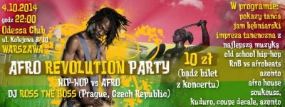 AFRO REVOLUTION PARTY  HIP-HOP vs AFRO