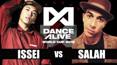 Issei vs Salah - finał 1vs1 All Styles na Dance Alive World Cup 2018