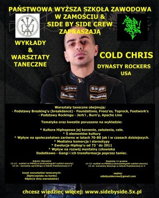 Cold Chris  z Dynasty Rockers w Zamościu