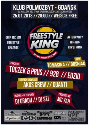 FREESTYLE KING - Bitwa Freestyle + koncerty / afterparty