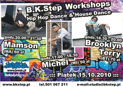 B.K.Step Workshops - Wirująca Strefa Brooklyn Terry, Mamson, Michel Sain