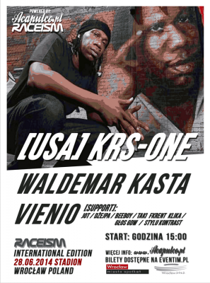 KRS ONE we Wrocławiu na Official Raceism Event