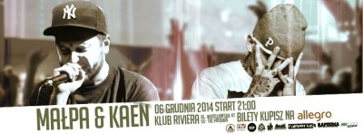 HIP-HOP NIGHT PRUSICE @KAEN @MAŁPA @RIVIERA CLUB