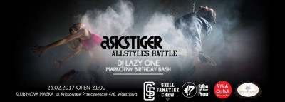 AsicsTiger Allstyles Battle // DJ Lazy One // Markotny Birthday
