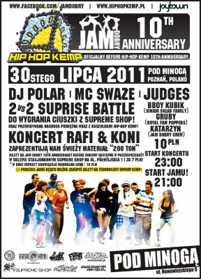 Jam Dobry 10th Anniversary Poznański Before HipHop Kemp 10th
